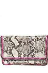 Stella McCartney Falabella Eco Python Clutch - Lyst