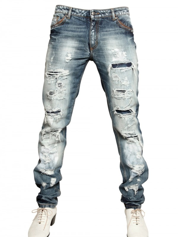 Tom rebl Destroyed Denim Jeans Jeans in Blue for Men | Lyst