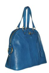Yves Saint Laurent Muse Oversized Matt Leather in Blue - Lyst
