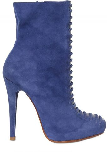 Alexandre Birman 120mm Suede Low Boots - Lyst