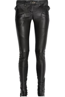 Balmain Stretch-leather Skinny Pants - Lyst