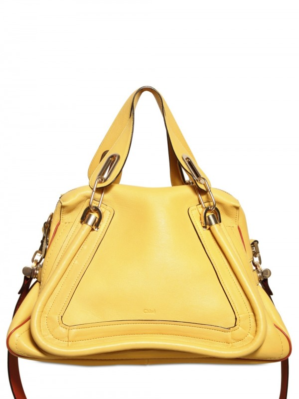 Chlo¨¦ Paraty Military Strap Top Handle in Yellow | Lyst
