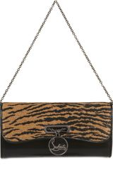 Christian Louboutin Riviera Panama Tiger Leather Clutch - Lyst