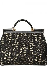 Dolce & Gabbana Miss Sicily Top Handle in Black - Lyst