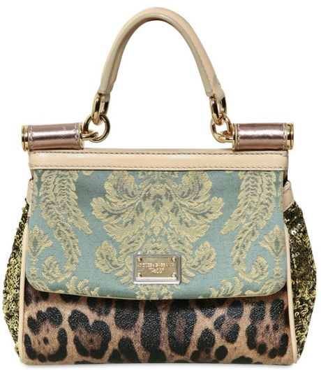 Dolce & Gabbana Mini Miss Sicily Top Handle in Multicolor (green) - Lyst
