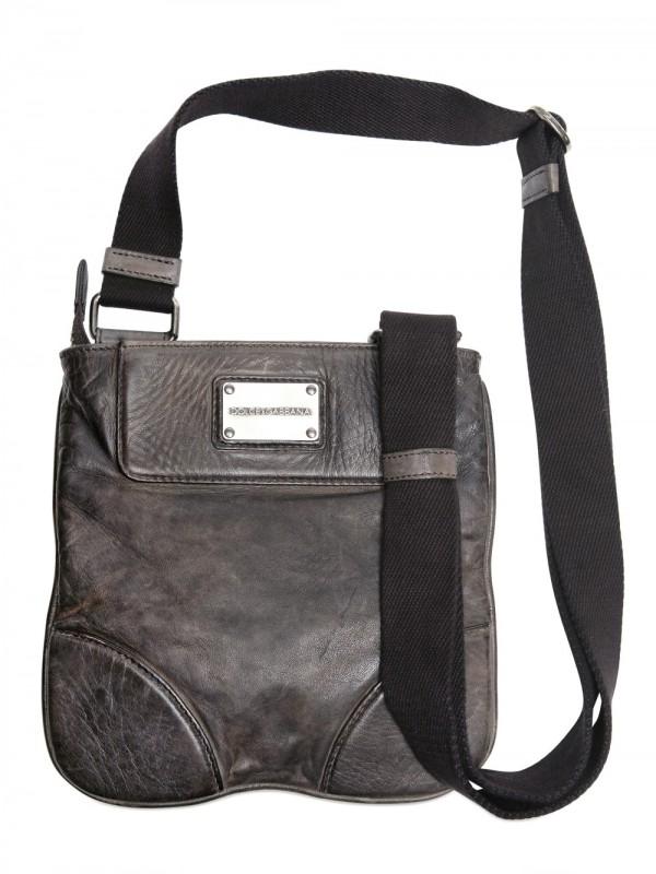 Lyst Dolce Amp Gabbana Leather Bag In Black For Men