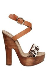 Dolce & Gabbana 150mm Ponyskin and Leather Sandals - Lyst