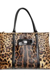 Dolce & Gabbana Leopard Print Canvas Top Handle - Lyst