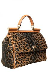 Dolce & Gabbana Miss Sicily Top Handle in Animal (leopard) - Lyst
