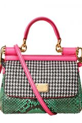 Dolce & Gabbana Mini Miss Sicily Top Handle in Multicolor (multi) - Lyst