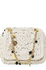 Dolce & Gabbana Mini Miss Charles Raffia Shoulder Bag