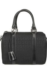 Fendi Zucchino Jacquard Boston Top Handle - Lyst
