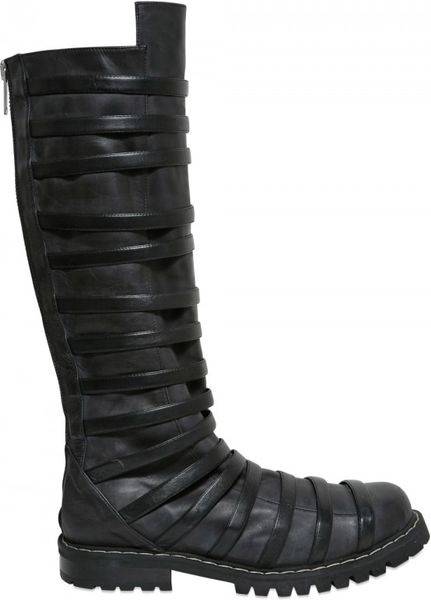 gareth pugh mens high strapped boot in black for lyst