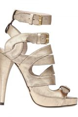 Gianna Meliani 130mm Laminated Calf Ankle Sandals - Lyst