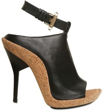 Givenchy 120mm Leather Open Toe Bootie Sandals - Lyst