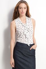 Halogen V-neck Sleeveless Blouse - Lyst