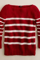 J.Crew Ripplestitch Sweater in Stripe - Lyst