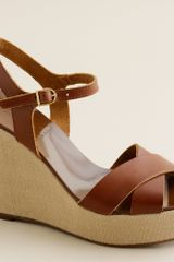 J.Crew Lila Leather Platform Wedges