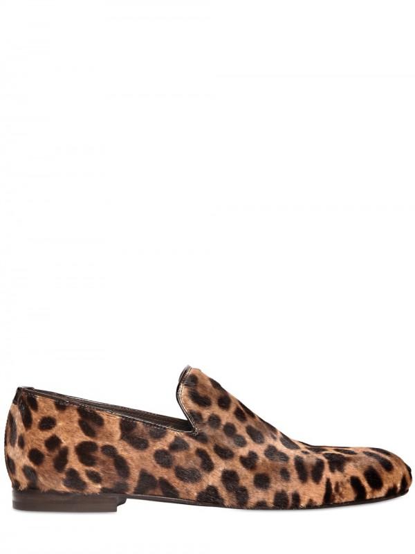 96e439c40 Lyst - Jimmy Choo Sloane Leopard Print Ponyskin Loafers for Men