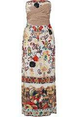 M Missoni Printed Silk Maxi Dress - Lyst