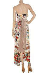 M Missoni Printed Silk Maxi Dress in Multicolor - Lyst