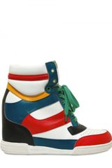Marc By Marc Jacobs 90mm Leather High Multi Sneakers Wedges in Multicolor (multi) - Lyst
