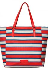 Marc By Marc Jacobs Jacobsen Stripe Printed Pvc Tote in Blue (red) - Lyst