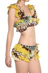 Missoni Ruffled Viscose Knit Bathing Suit in Multicolor (multi) - Lyst