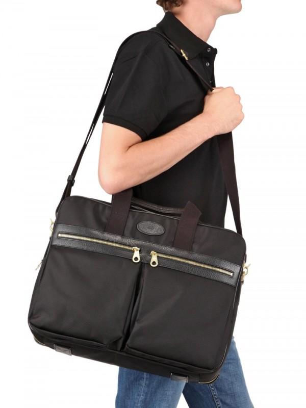 Lyst - Mulberry Henry Overnight Nylon Briefcase Bag in Black for Men 8f8f0adda08f0