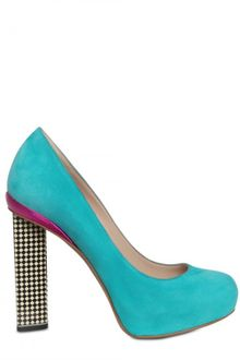 Nicholas Kirkwood 120mm Suede Checked Heel Pumps - Lyst