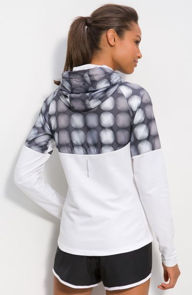 Nike Fanatic Hooded Jacket In White White Reflective