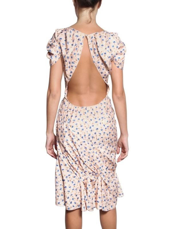813bb68b41 Lyst - Nina Ricci Floral Jacquard Imprime Dress in Pink