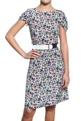 Nina Ricci Crepe De Chine Floral Dress - Lyst