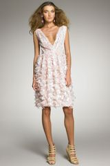 Oscar de la Renta Petal-applique Cocktail Dress - Lyst