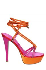 Rene Caovilla 130mm Satin & Swarovski Sandals - Lyst