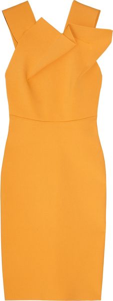 Roland Mouret Wikes Stretch-crepe Dress - Lyst