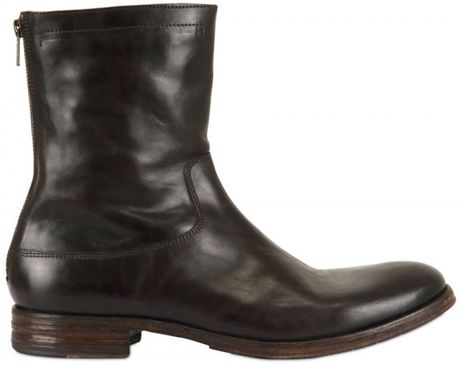 shoto brushed leather boots in brown for lyst
