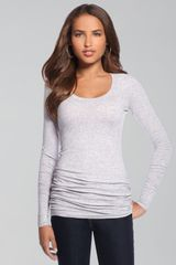 Splendid Long-sleeve Layering Top, Gray - Lyst