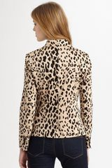 Tibi Cheetah Stretch Blazer in Beige (sand) - Lyst