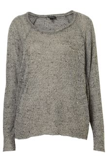 Topshop Speckle Panel Sweat Top - Lyst