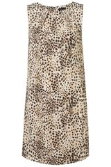 Topshop Animal Shift Dress - Lyst