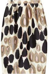 Valentino Printed Wool and Silk-blend Skirt - Lyst