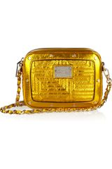 Versace Metallic Leather Shoulder Bag - Lyst