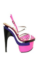 Versace 16omm Patent Sandals in Multicolor (multi) - Lyst