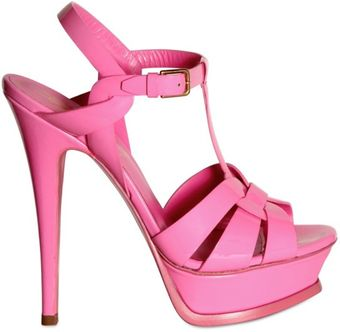 Yves Saint Laurent 140mm Tribute Patent Sandals - Lyst