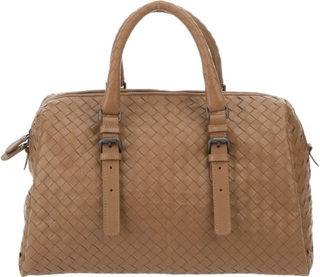 Bottega Veneta Weaved Leather Tote in Brown - Lyst