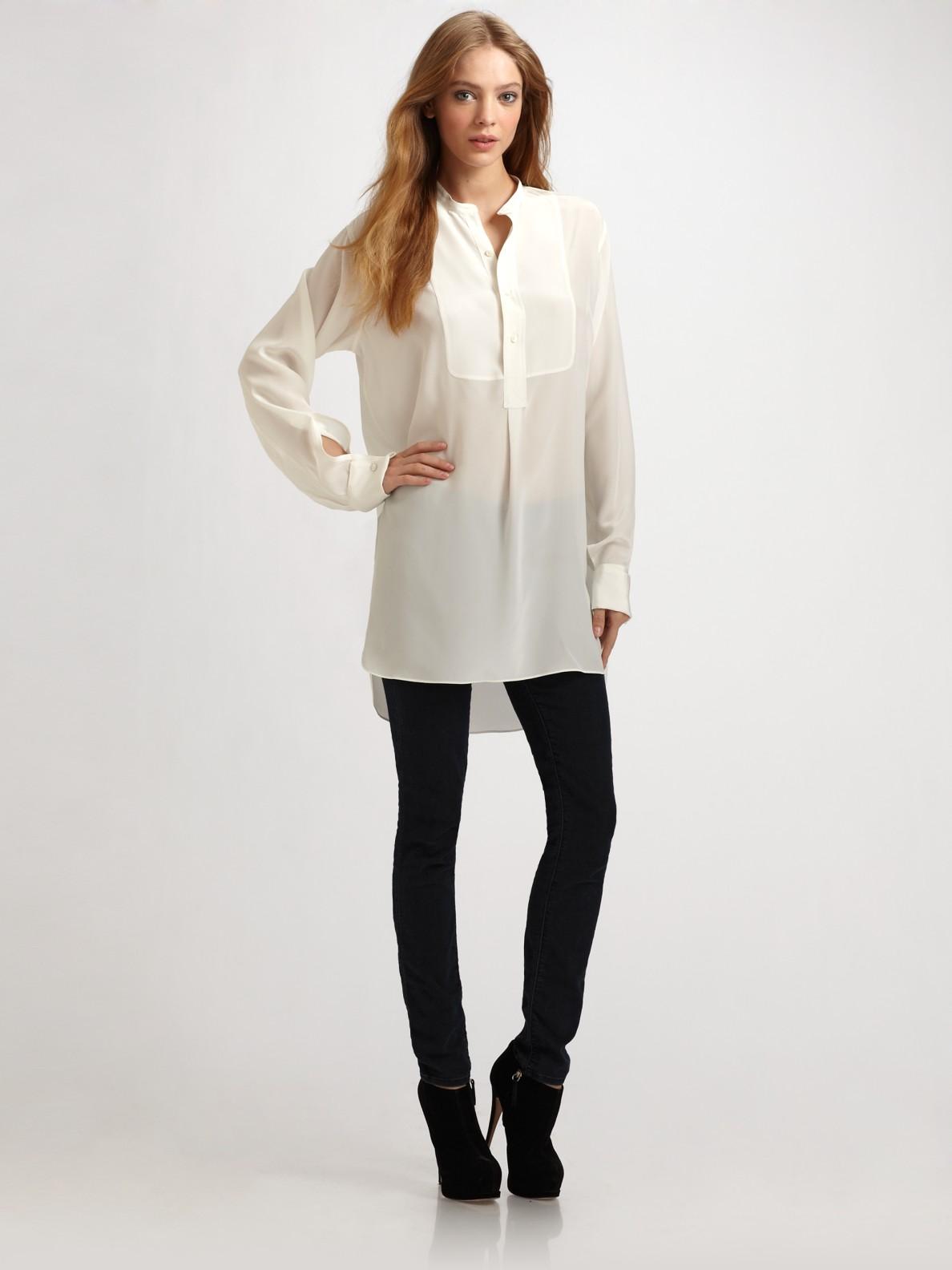 Elegant  About Pendleton Sheer Romance Blouse  Long Sleeve For Women