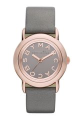 Marc By Marc Jacobs Marci Leather Strap Watch - Lyst