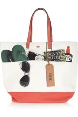 Anya Hindmarch Beach Bag Printed Canvas Tote - Lyst