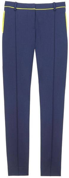 Jason Wu Stovepipe Pant W/Neon Trim in Blue - Lyst